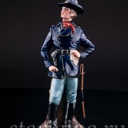 Фигурка солдата из фарфора Американский кавалерист, Bruno Merli, Италия, сер. 20 в.