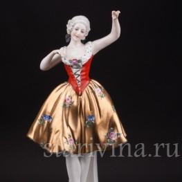Фарфоровая статуэтка Танцующая девушка, Ernst Bohne Sohne, Германия, нач. 20 в.